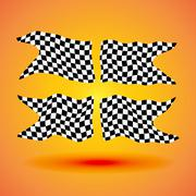 Racing background set collection of four checkered flags  illustration Piirros