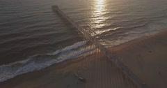 Revealing the Hermosa Beach Pier Stock Footage