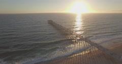 Pivoting Around The Hermosa Beach Pier Stock Footage