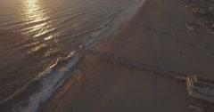 Revealing the Hermosa Beach Pier and Hermosa Beach Stock Footage