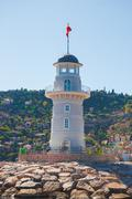 lighthouse in Alanya - stock photo