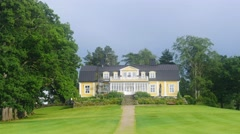 ESPOO, UUSIMAA, FINLAND, JUNE 3 Time-lapse of bodom mansion, at bodom lake, i Stock Footage