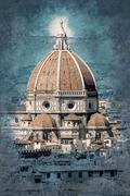 Cathedral of Santa Maria del Fiore in Florence Stock Illustration