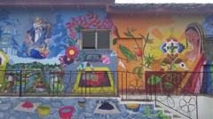Concepcion de Ataco Mural Stock Footage