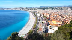 Beach in Nice, French Riviera - stock footage