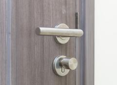 Door lock with luxury room Stock Photos