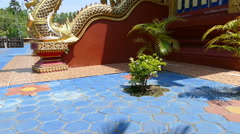 The architecture of buddhism church Stock Footage
