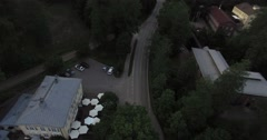 Cinema 4k aerial view on the village in Fiskari, Finland Stock Footage