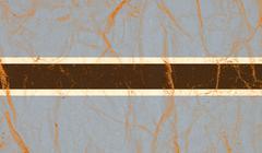 Botswana flag painted on crumpled paper background Stock Photos
