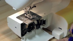 Change Thread on the Sewing Machine Closeup. Stock Footage