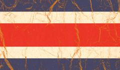 Costa Rica flag painted on crumpled paper background Kuvituskuvat