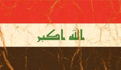 Iraq flag painted on crumpled paper background Kuvituskuvat