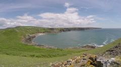 South Wales Coastline Stock Footage