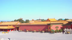 Panorama Forbidden City palace Stock Footage