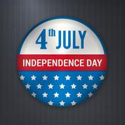 Vector independence 4 July american badge Stock Illustration