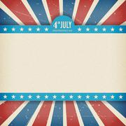 Vector independence 4th July american day poster Stock Illustration