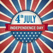 Vector independence 4th of July american day poster Stock Illustration