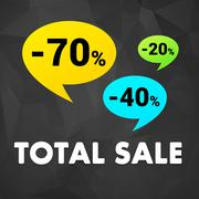 Total sale off discount poster Stock Illustration