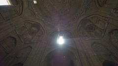 Isfahan Old Mosque ceiling - stock footage
