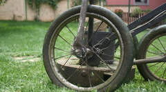 Lawn mower [gimbal] wheel Stock Footage