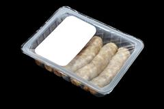 kupaty (bratwursts) in modified atmosphere packaging (MAP) - stock photo