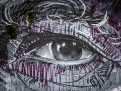 Graffiti eye Stock Photos