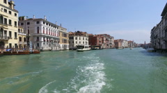 Vaporetto in Venice point of view Stock Footage