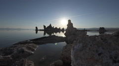 Mono lake at Sunrise Dolly shot raw Stock Footage