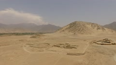 CARAL (AERIAL) in Peru, South America Stock Footage