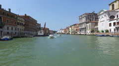 Venice Grand canal from a boat Stock Footage