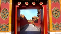 East Path is near Tranquility in the Inner Court of the Forbidden City Stock Footage