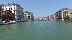 Vaporetto in Venice, Italy Stock Footage
