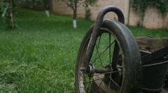 Lawn mower [gimbal] follow shot  Stock Footage