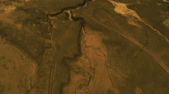 Aerial Shot of Chemical Wasteland Stock Footage