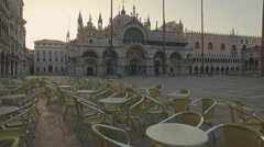 Amazing views of San Marco square and The Doge's Palace, Venice, Italy Stock Footage