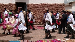 PERU: Traditional procession in Peru (South America) Stock Footage