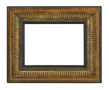 Antique gold frame Stock Photos