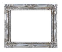 Antique silver frame Stock Photos