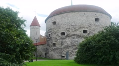 Time-lapse of the margaret tower in tallinn, estonia Stock Footage
