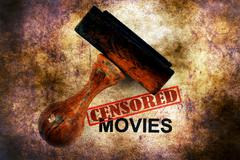 Censored movies grunge concept - stock illustration