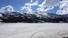 Ellery Lake near Tioga Pass California USA Time-lapse Stock Footage