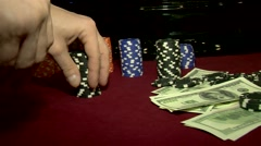 Making bets on the roulette table. Stock Footage