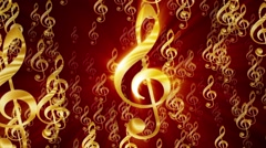 Treble clef background - stock footage