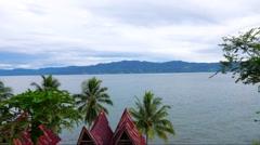 Timelapse of Toba lake from Samosir island, North Sumatra, Indonesia - stock footage