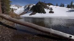 Ellery Lake near Tioga Pass California USA tracking up Stock Footage