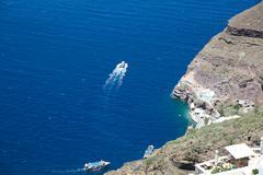 Cliffs of Folegandros, Cyclades, Greece Stock Photos