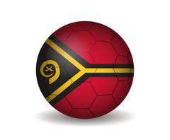 vanuatu soccer ball - stock illustration