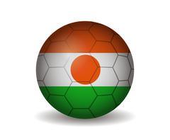 Niger soccer ball Stock Illustration