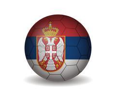 Serbia soccer ball Stock Illustration
