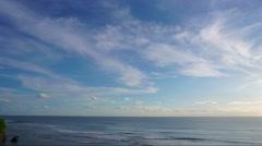 Timelapse of Uluwatu blue point before sunset Stock Footage